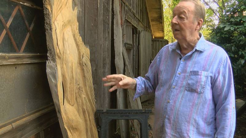 Artist Jim Jeansonne says some a trailer containing some of his lifelong works was stolen from...