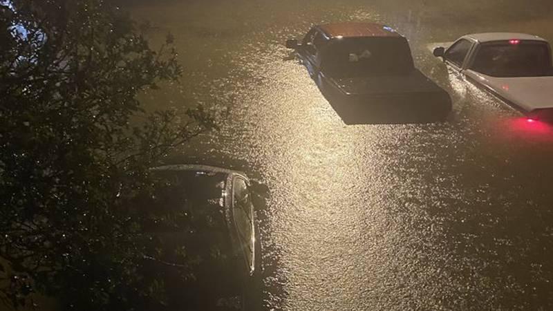 WAFB FILE photo of high water near Siegen Lane on May 17, 2021