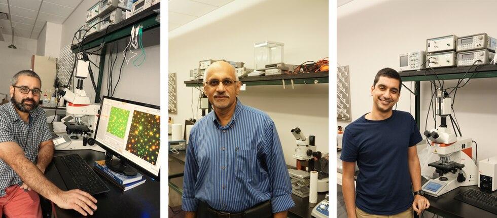 L-R: Bhuvnesh Bharti, Kalliat Valsaraj, and Ahmed Al Harraq
