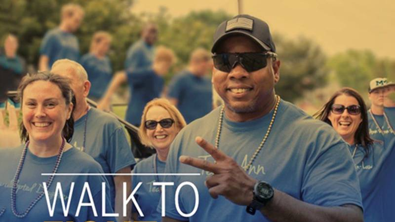 Flyer for annual Out of Darkness Walk for the Greater Baton Rouge area