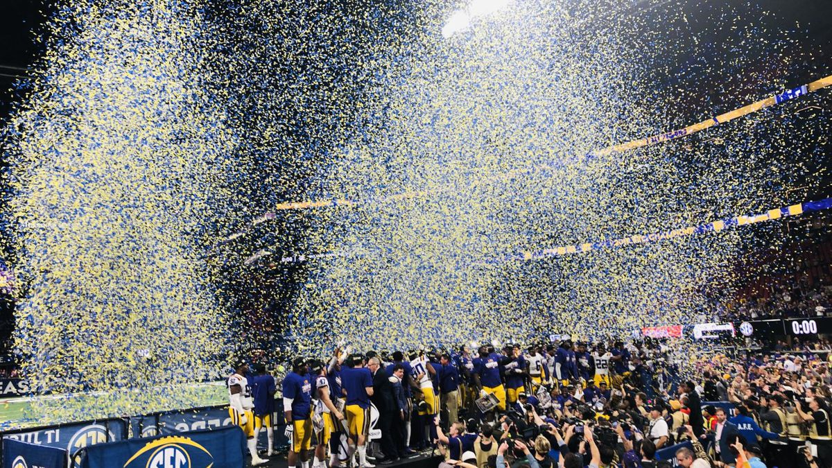 LSU will enter the Peach Bowl as heavy favorites over Oklahoma. (Source: Garland Gillen)
