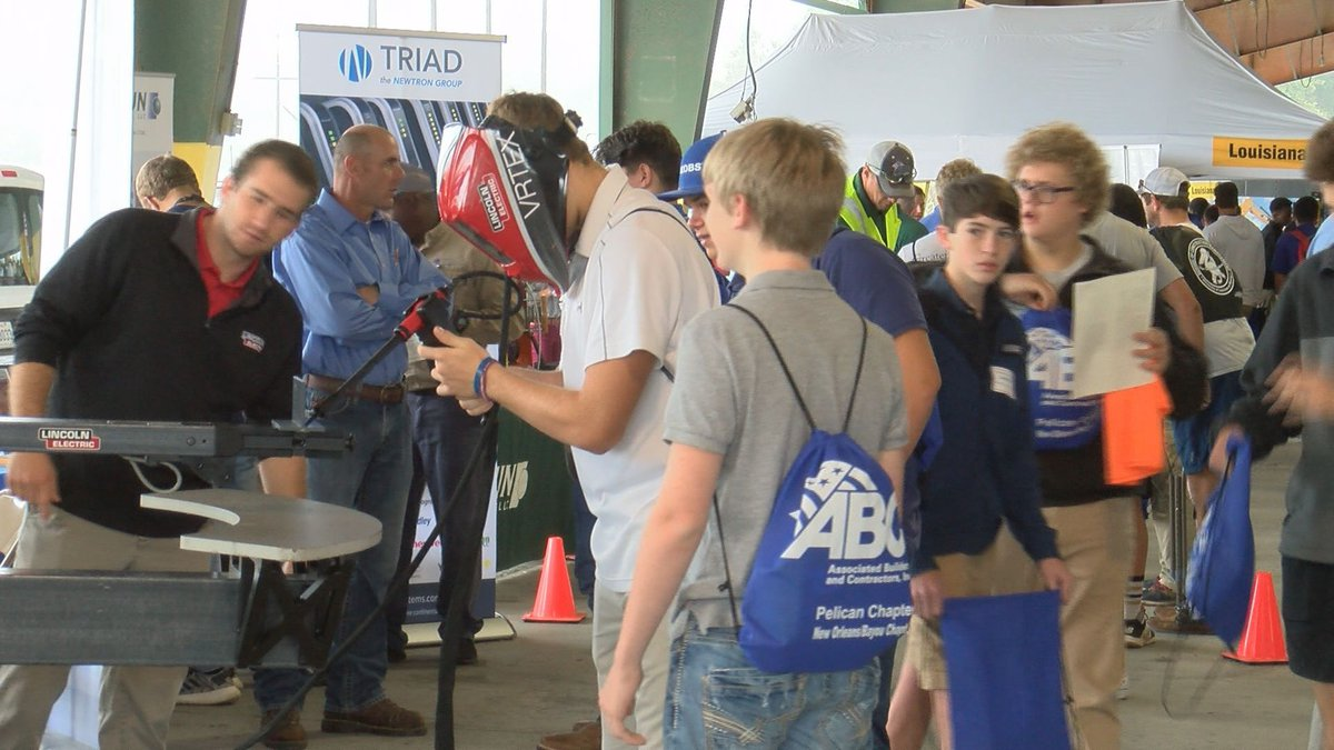 Over 1,000 Louisiana high school students attended a construction industry job fair at the...