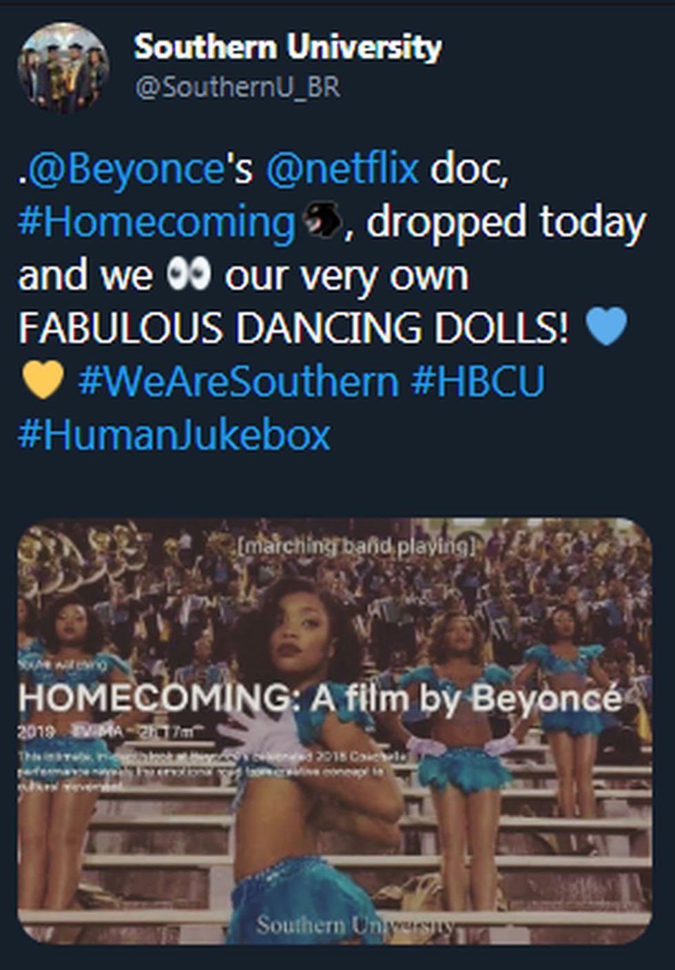 Southern University featured in Beyonce documentary.