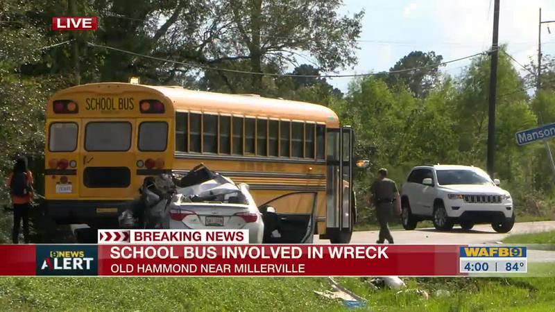 Deputies respond to crash involving school bus on Old Hammond Highway
