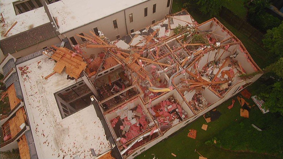 Storm Damage near Essen Lane in Baton Rouge on June 24, 2020.
