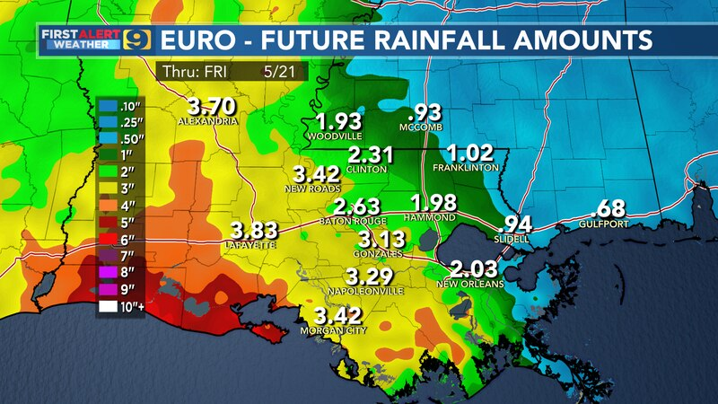 Future rainfall amounts