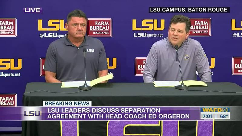 Ed Orgeron will not return as LSU's head football coach in 2022.