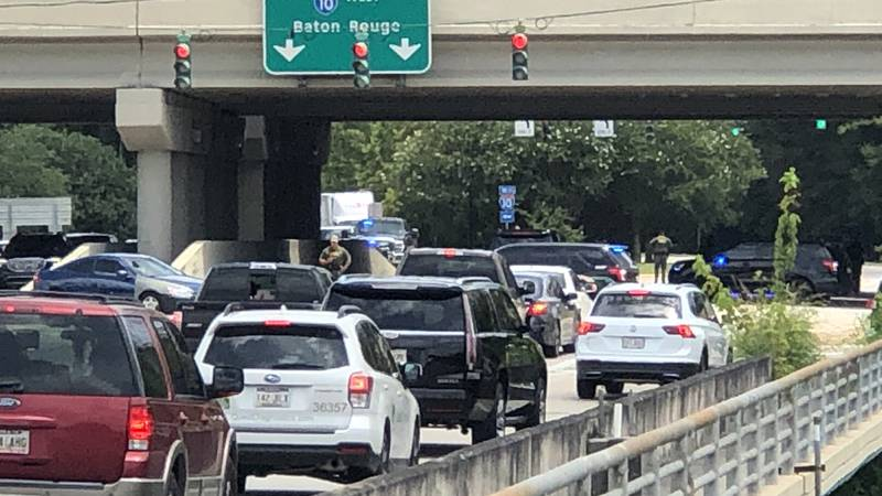 A shooting incident on Bluebonnet Blvd. has traffic backed up.