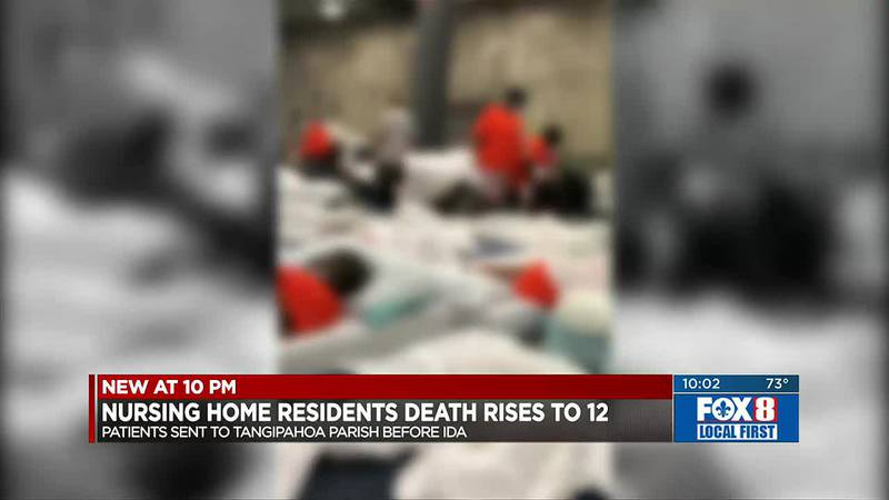 12 nursing home residents dead after Ida evacuation to warehouse