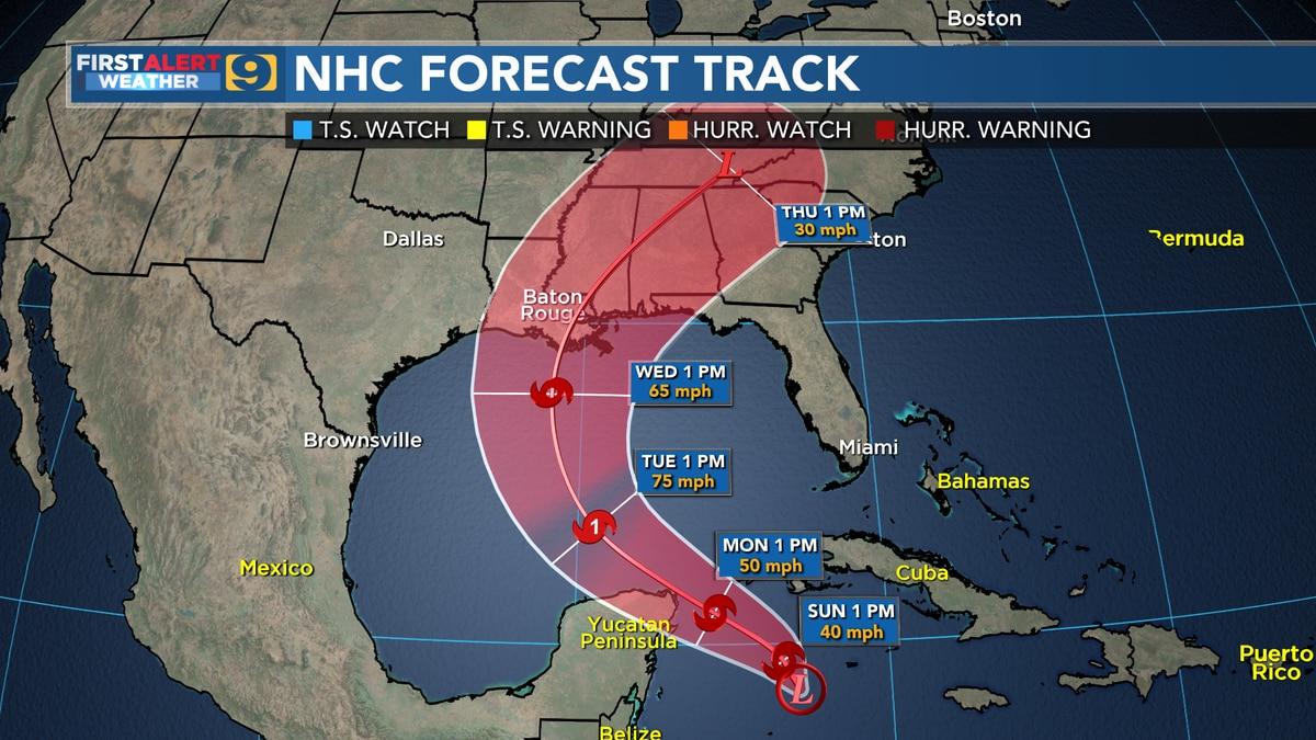 NHC forecast track