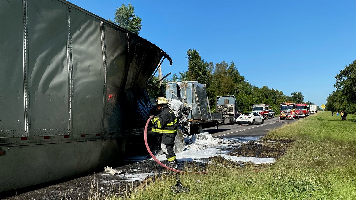 One person died in a crash on I-10 East involving nine vehicles on Thursday, Sept. 9, 2021.