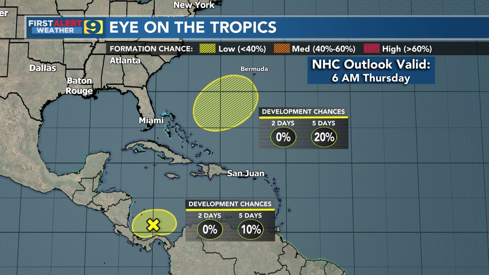 Tropical weather outlook from the National Hurricane Center as of 6 a.m. Thursday, Nov. 19,...