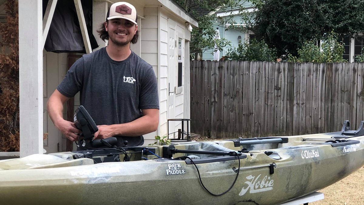 Brock Miller, who is only 21 years old, decided to start his own kayaking business during the...