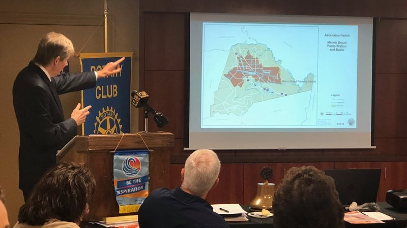 William Daniel speak at Rotary Club Tuesday on drainage issues in Ascension Parish