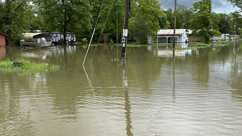 With floodwaters continuing to rise in Bayou Pigeon, residents say cries for pumps and other...