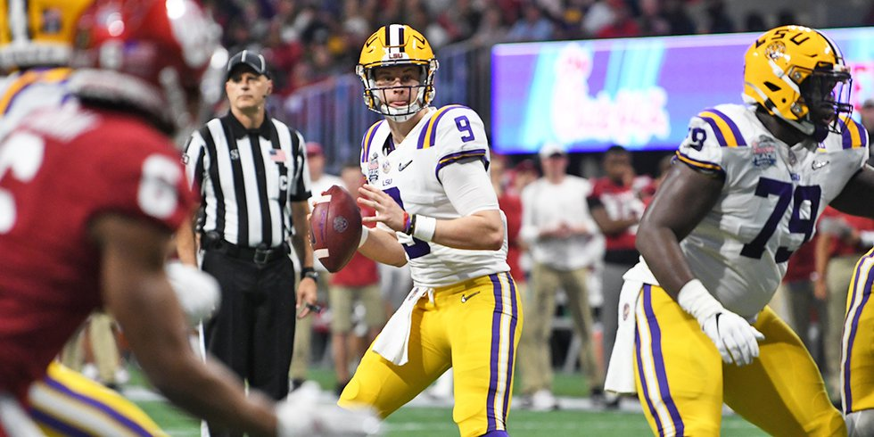 LSU quarterback Joe Burrow was 29-of-39 for 473 yards and seven touchdowns. He also scored a...