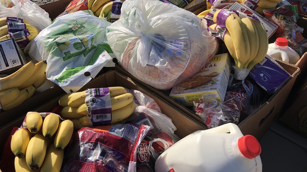 Monroe food pantry draws hundreds of families in need of groceries