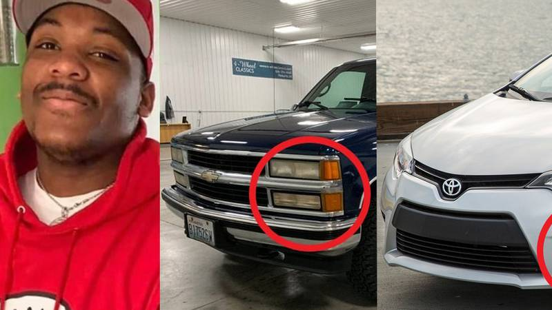 Police have released new details about the two suspect vehicles in the death of Q'Ryon...