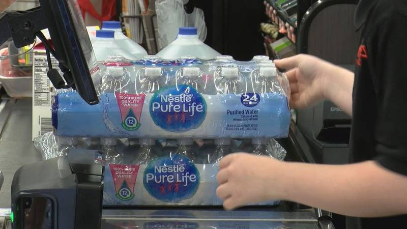 The stores were busy Sunday, but only a few were stocking up on hurricane supplies.
