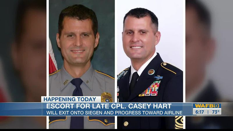 Funeral procession for Corporal Casey Hart