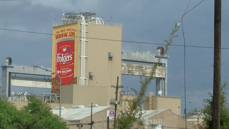 The Folgers coffee company facility in New Orleans East seen in an August 2020 photo.