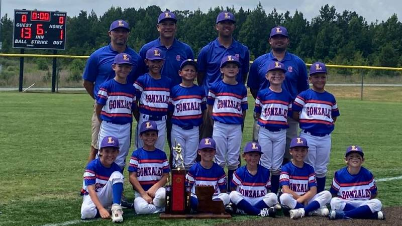 Gonzales 8U Dixie Youth Baseball Div. I State Champions