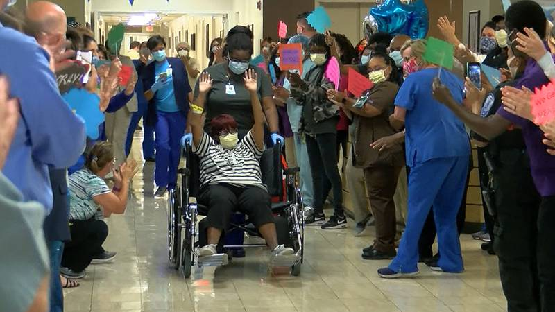 Beverly McCray became the 500th COVID-19 survivor to leave Baton Rouge General - Mid City.