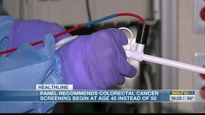 HEALTHLINE: Experts now recommending colon cancer screenings begin at 45 rather than 50