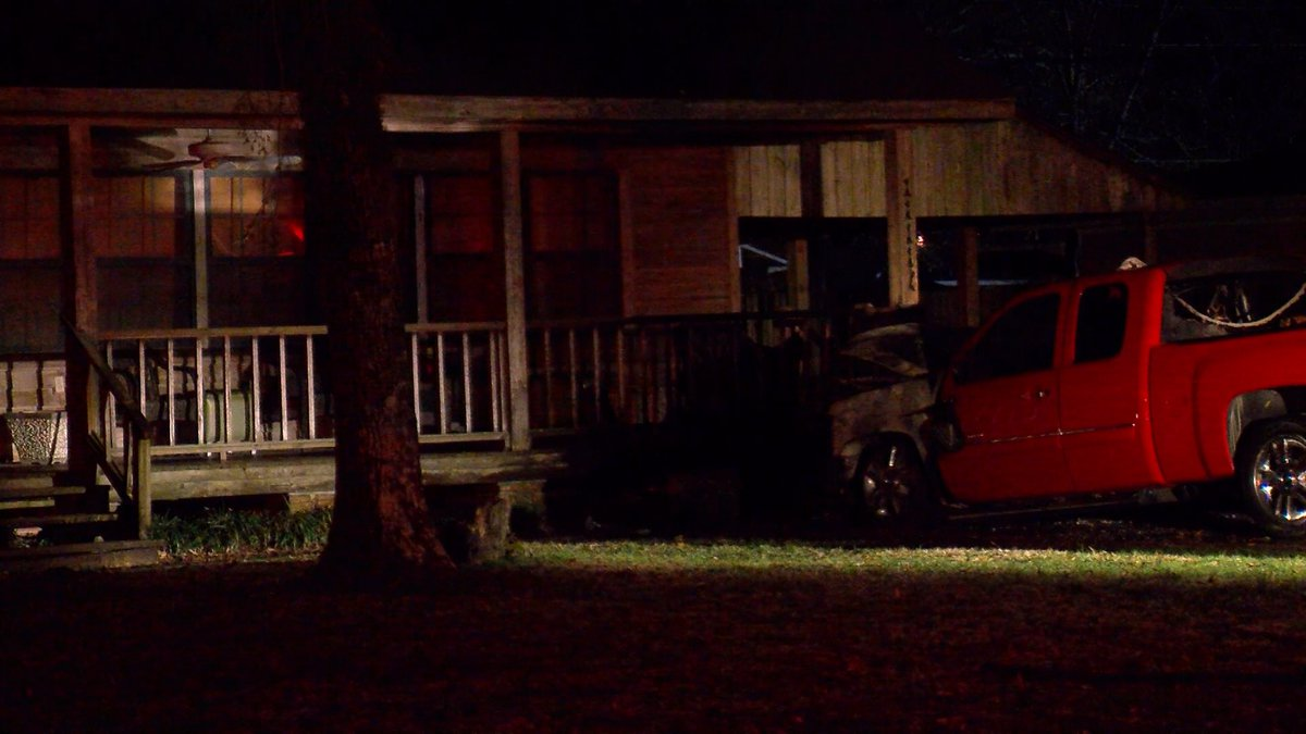 A fire damaged the porch of a home on Tams Drive and the truck parked near it on Jan. 31, 2019.