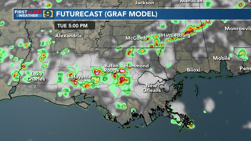 Futurecast for Tuesday, July 13.