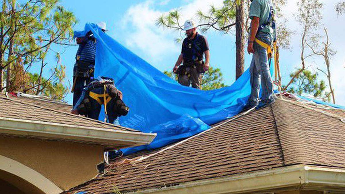 FILE photo of the U.S. Army Corps of Engineers 'Operation Blue Roof' program