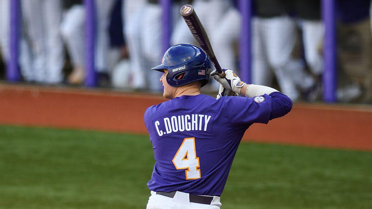 LSU second baseman Cade Doughty (4)