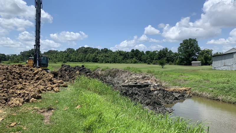 New Flood mitigations are being constructed for New River Bayou