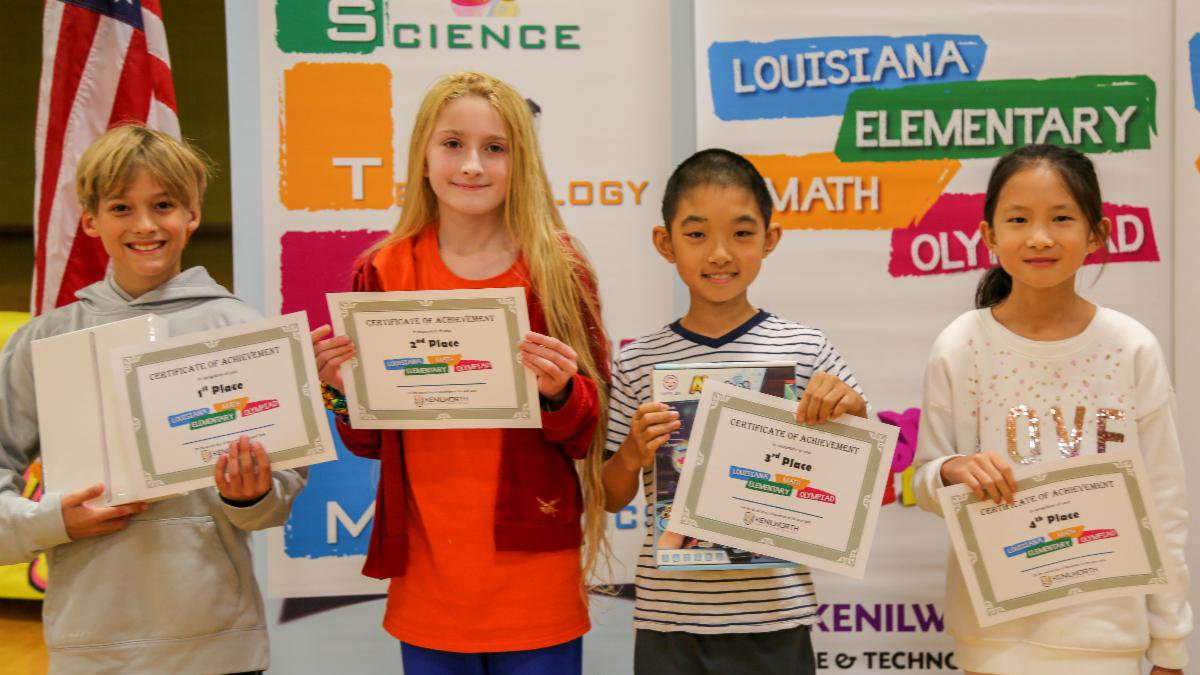 Platinum Division winners, left to right, are Nate McLean, Episcopal School of Baton Rouge,...