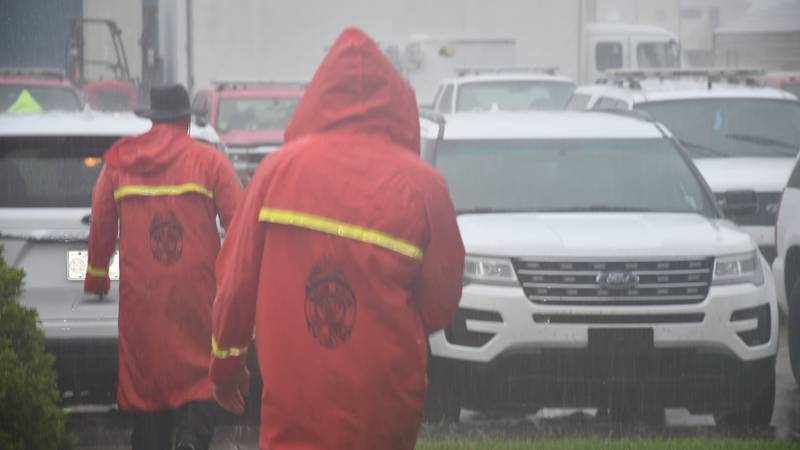 First responders from several agencies in East Baton Rouge Parish headed to the Lake Charles...