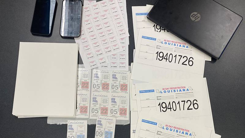 Two people were arrested on Thursday, May 13, 2021, for allegedly selling fake Louisiana Motor...
