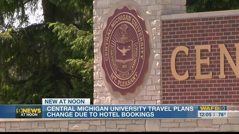 Central Michigan change travel plans