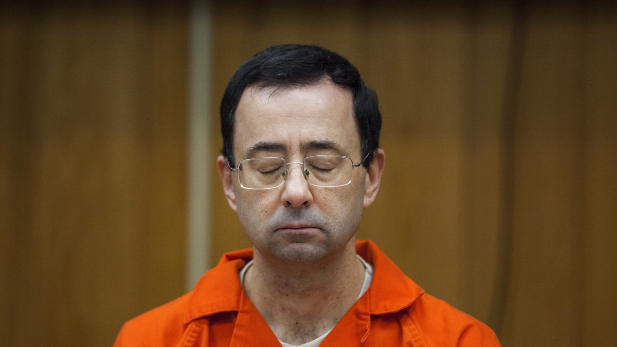 In this Feb. 5, 2018, file photo, Larry Nassar listens during his sentencing at Eaton County...