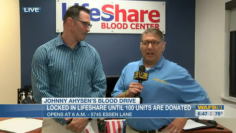 Johnny Ahysen is locked at Lifeshare until 100 donations are received
