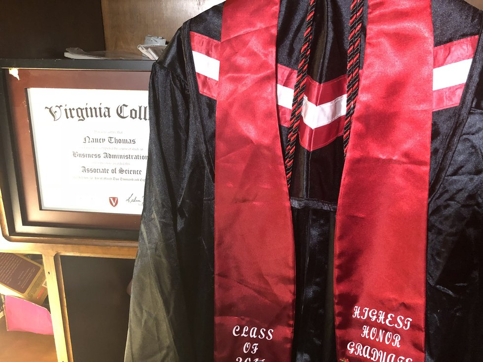 Thomas' cap and gown is ready to go for graduation, but now she's unsure if that will even...