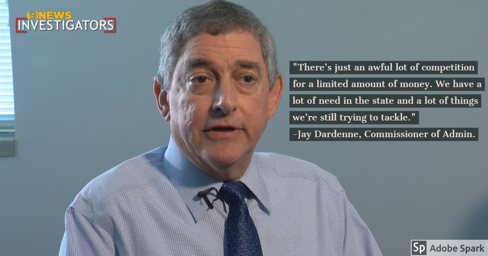 Commissioner of Administration Jay Dardenne believes the state does provide what it can but...