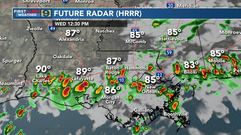 Future radar for Wednesday, June 23.