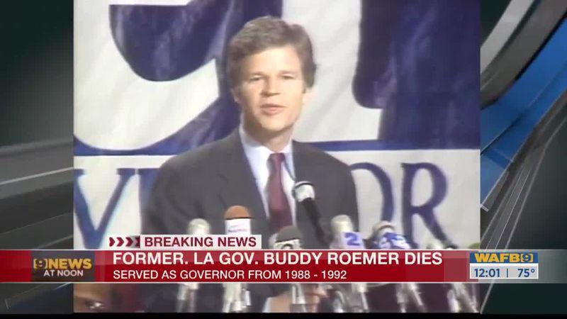 Former Gov. Buddy Roemer dies