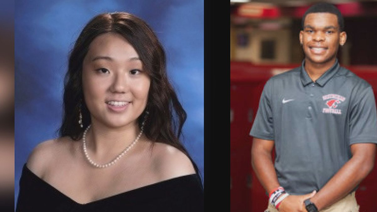 Ju-Woo Nho (left) and Eric Jones are two Louisiana high school students who were named US...