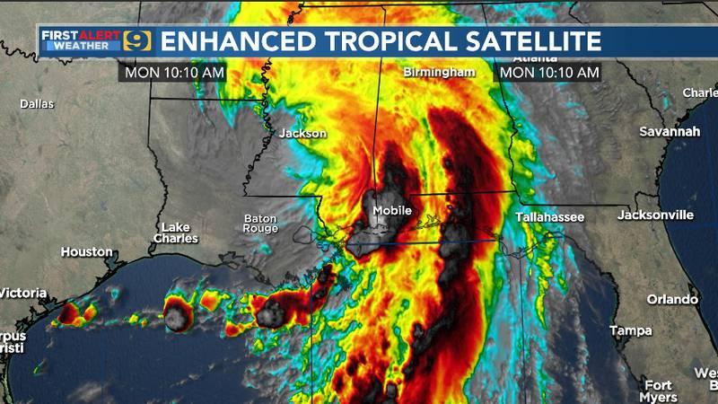 Enhanced tropical satellite.