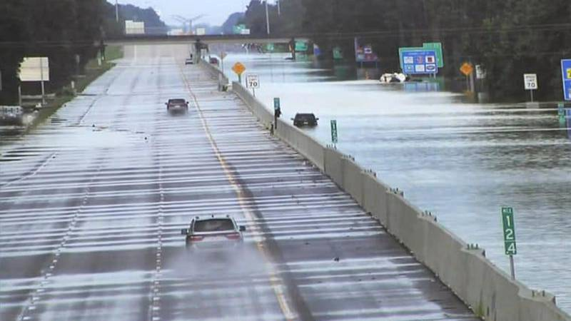 Flood of 2016 caused several flooding issues around I-12.