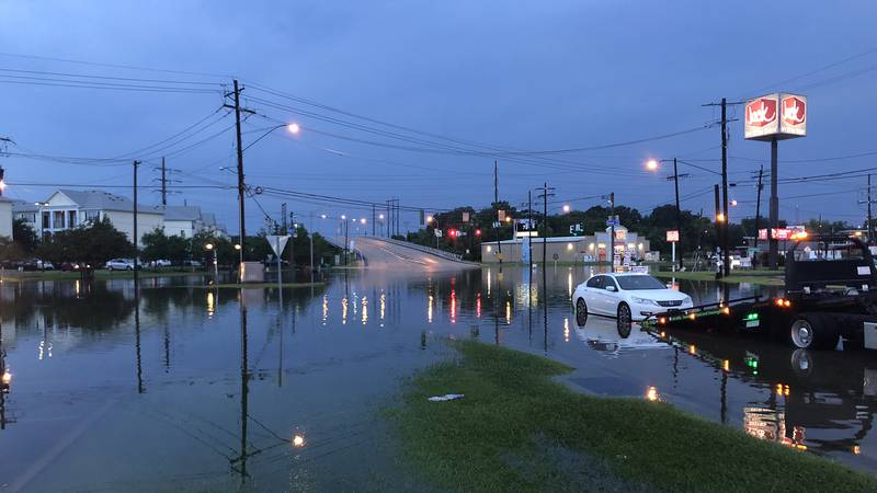 Street flooding caused some drivers to get stranded on Harding Boulevard near Southern...