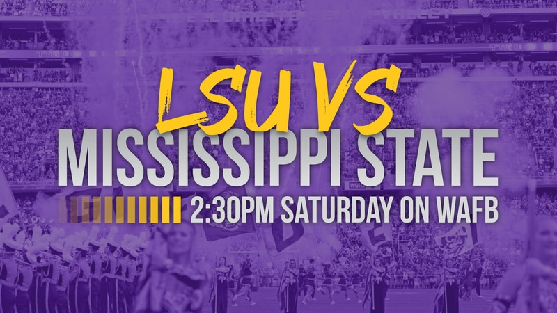 Mississippi State vs. LSU will be televised  on WAFB-TV at 2:30 p.m. Saturday, Sept. 26, 2020.
