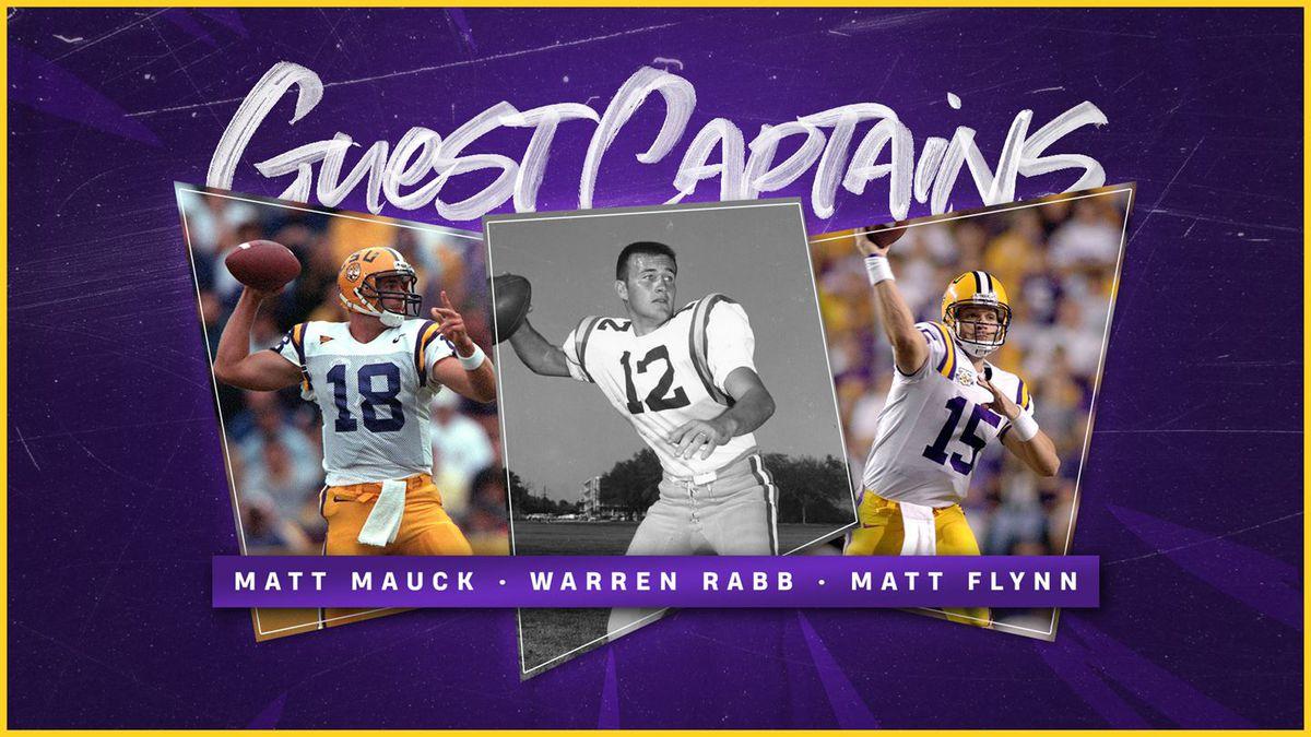 Three quarterbacks who won national championships for LSU will return to Tiger Stadium to serve...