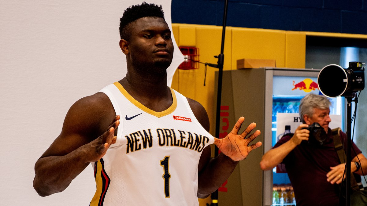 First-round draft pick Zion Williamson prepares for training camp with the New Orleans Pelicans.